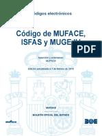 Codigo de Muface Isfas y Mugeju