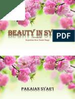 Beauty in Syar'i