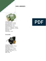 Spesifikasi Pompa Shimizu