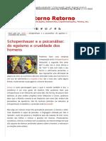 Schopenhauer e a Psicanálise_ Do Egoísmo e Crueldade Dos Homens