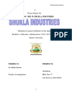 MARKETING MIX IN SHUKLA INDUSTRIES