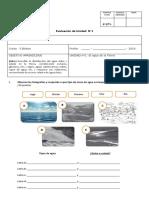 Evaluacion n1 Quinto El Agua en El Planeta Tierra