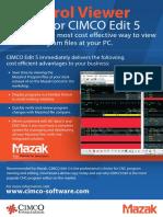 Brochure - Mazatrol Viewer in CIMCO Edit 5, English