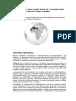 COLONIZACIÓN Y DESCOLONIZACIÓN DE LOS PAÍSES QUE CONSTITUYEN EL MAGREB