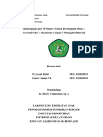 Tutorial Hidrosefalus post VP Shunt + Pneumonia + Sepsis + Meningitis Bakterial + CP + Global Dev Delayed Zuniva & Gazali