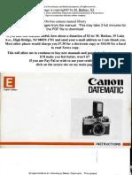 Canon Datematic
