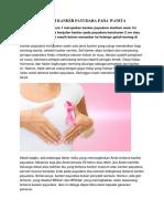 Ciri Ciri Kanker Payudara Pada Wanita
