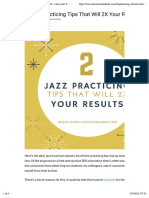 2 Jazz Practicing Tips