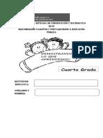 EVALUACIÓN  DE CUARTO GRADO COMUNICACIÓN 2018.docx