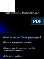 Artificial Passenger Final AP Ppt