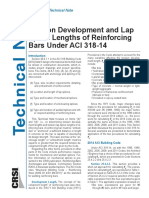 Tension Developments and Lap Splice Lengths of Reinf Bars Under ACI318!14!2015