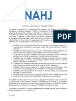 NAHJ Board Campaign Guidelines