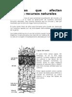 Problemas que afectan nuestros recursos naturales