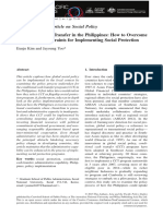 Conditional Cash Transfer in the Phil. How to Overcome Instituinal Constraints for Implementing Social Protection