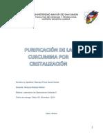 Cristalizacion de La Curcumina