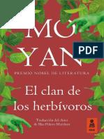 «El clan de los herbívoros», Mo Yan (Kailas)