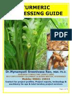 Turmeric Processing Guide by Mynampati Sreenivasa Rao