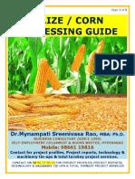 Maize Processing Guide by Mynampati Sreenivasa Rao