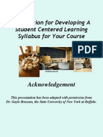 Foundation for Developing a Student Centered Learning Syllabus (1)