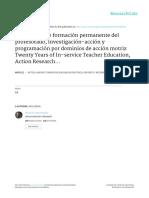 Veinte Años de Formación Permanente Del Profesorado