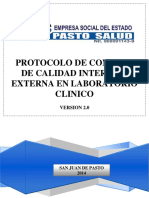 Protocol o Control Calidad in y Ex Test An