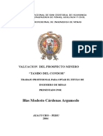 Tesis Valuacion Del Prospecto Mineo