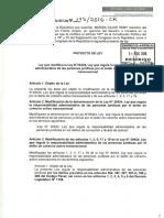 Modificatoria PL de La Ley 30424