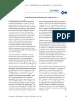 - Letter - Re Regulator Performance in Polar Diving
