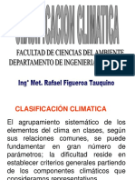 CLASIFICACIÓN CLIMATICA