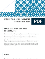 Institutional Setup for Export Promotion in India