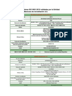 Casas Certificadoras ISO 9001