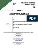 00. Checklist PGLP GYE - UIO, Semana 5