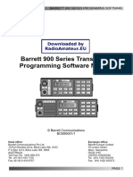 Barrett 900 Programming User
