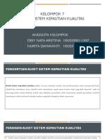 Ppt Kelompok 7 Audit Sitem Kepatian Kualitas Desy Nata a Dan Nurita Damayanti