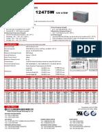 DataSheet Baterias UPS