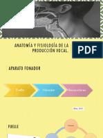 Anatomía y Fisiología de La Producción Vocal Final