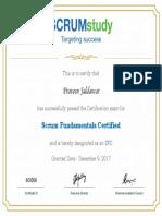 Course Certificates SCRUMstudy Praveen Jaldawar