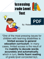 accessing text professional development