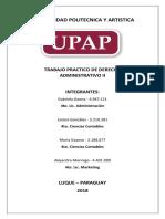 UPAP Trabajo Derecho Administrativo II