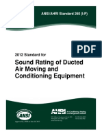 AHRI 260-2012 I-P Duct Sound Rating