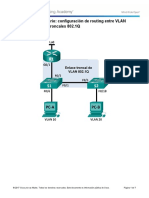 6.3.3.7 Lab - Configuring 802.1Q Trunk-Based Inter-VLAN Routing