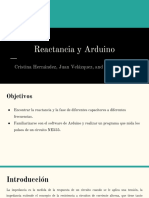 Reactancia y Arduino
