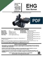 Manual Quemador Wayne EHG Combustible GLP