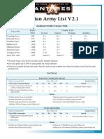 Isorian Army List Antares V2.1 PDF