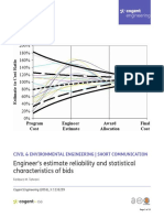 Engineer s Estimate Reliability and Statistical Characteristics of Bids