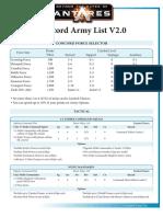 Concord Army List Antares V2.0 PDF