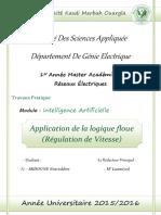 Application de La Logique Floue R Gulation de Vitesse