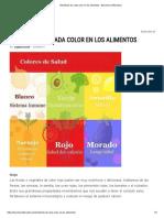 Beneficios de Cada Color en Los Alimentos - Barcelona Alternativa