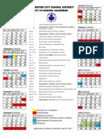 School Calendar 2017-2018 Official