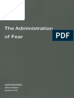 (Semiotext(e) _ Intervention Series) Paul Virilio, Ames Hodges, Bertrand Richard-The Administration of Fear-Semiotext(e) (2012)